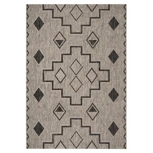 Safavieh Grey and Black Courtyard Southwest Indoor/Outdoor R