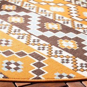 Safavieh VER095-0752 Terracotta and Chocolate Veranda Indoor