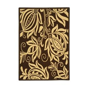 Safavieh CY2961-3409 Courtyard Area Rug, Chocolate / Natural