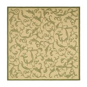 Safavieh CY2653-1E01 Courtyard Area Rug, Natural / Olive,CY2