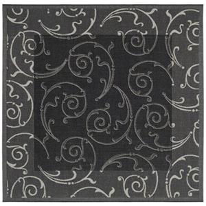 Safavieh CY2665-3908 Courtyard Indoor/Outdoor Area Rug, Blac