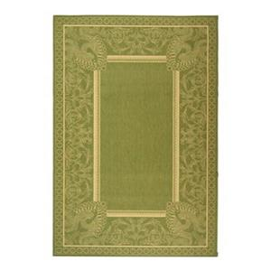Safavieh CY2965-1E06 Courtyard Area Rug, Olive / Natural,CY2