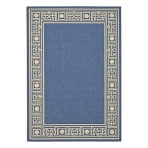 Safavieh Courtyard 7 ft x 10 ft Blue Indoor/Outdoor Area Rug