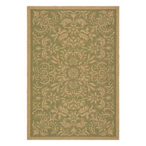 Safavieh CY6634-44 Courtyard Indoor/Outdoor Area Rug, Green,