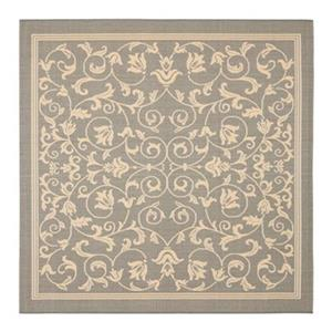 Safavieh Courtyard 8 ft x 8 ft Grey and Natural Area Rug