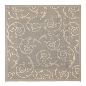 Safavieh Courtyard 7 ft x 10 ft Grey and Natural Indoor/Outdoor Area Rug