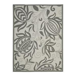 Safavieh Courtyard 7 ft x 10 ft Light Grey and Anthracite Indoor/Outdoor Area Rug