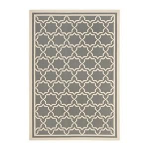 Safavieh Courtyard 7 ft x 10 ft Anthracite and Beige Indoor/Outdoor Area Rug