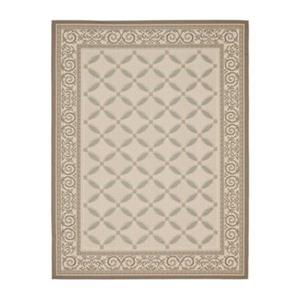Safavieh Courtyard Indoor/Outdoor 7-ft x 10-ft Beige Area Rug