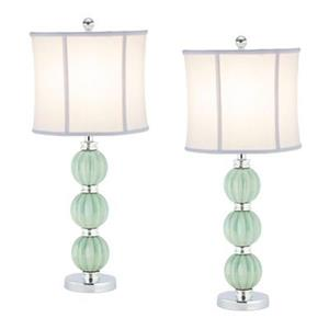Safavieh 25-in Light Green Mia Globe Lamp (Set of 2)