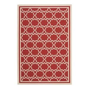 Safavieh Courtyard 7 ft x 10 ft Red Indoor/Outdoor Area Rug