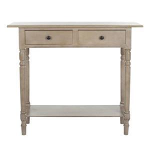 Safavieh Rosemary 2-Drawer Rectangular Vintage Grey Wood Console Table
