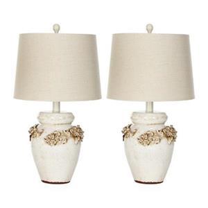 Safavieh 24.50-in Cream Marquesa Vase Lamp (Set of 2)