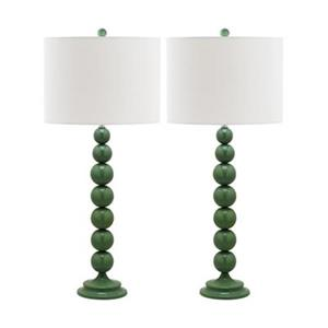 Safavieh 31-in Marine Blue Jenna Stacked Ball Lamps (Set of 2)