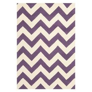 Chatham Area Rug, Purple / Ivory