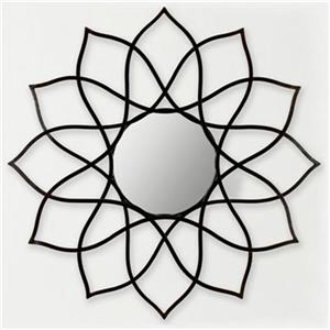 Safavieh Flower Power 35-in x 35-in Coffee Bronze Mirror