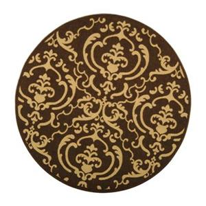 Safavieh Courtyard Indoor/Outdoor Round Brown Area Rug