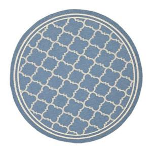 Safavieh Courtyard Indoor/Outdoor Blue Round Area Rug