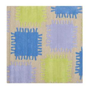 Beige and Multi-Colored Kids Area Rug