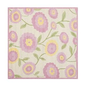 Ivory and Pink Kids Area Rug