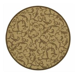 Safavieh Courtyard 8 ft x 8 ft Natural and  Brown Indoor/Outdoor Area Rug
