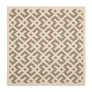 Safavieh Courtyard 8 ft x 8 ft Tan Indoor/Outdoor Area Rug