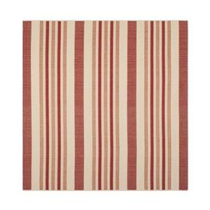 Safavieh Courtyard 7 ft x 10 ft Beige and Red Area Rug