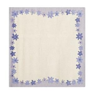 Ivory and Lavender Kids Area Rug