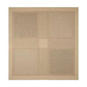 Safavieh Courtyard 8 ft x 8 ft Natural and Brown Area Rug