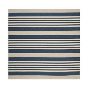 Safavieh Courtyard 8 ft x8 ft Navy and Beige Area Rug