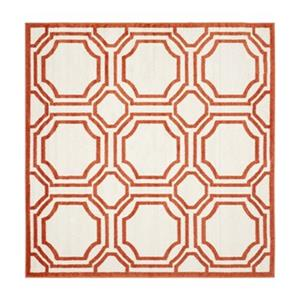 Safavieh Amherst 7 ft x 7 ft Ivory and Orange Area Rug