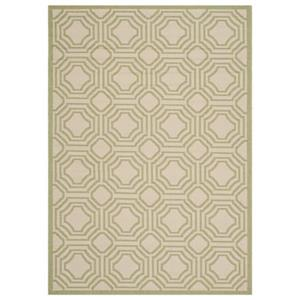 Safavieh Courtyard 7 ft x 10 ft Beige and Sweet Pea Area Rug