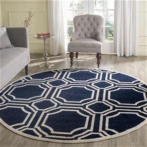 Safavieh Amherst 7 ft x 7 ft Navy and Ivory Area Rug