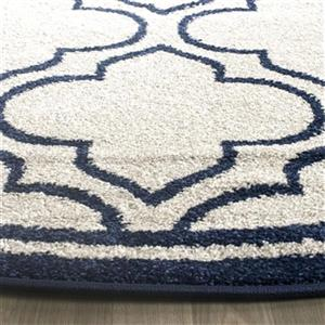 Safavieh Amherst 7 ft x 7 ft Ivory and Navy Area Rug