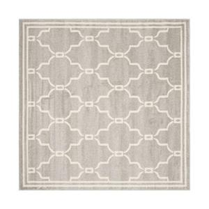 Safavieh Amherst 7 ft x 7 ft Light Grey and Ivory Area Rug