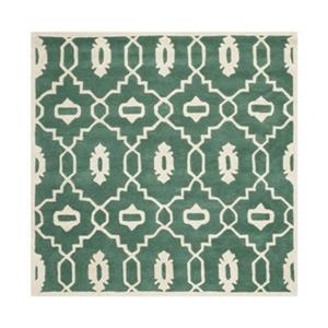 Chatham Teal and Ivory Area Rug