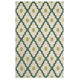 Chatham Ivory and Teal Area Rug