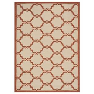 Safavieh Courtyard 7 ft x 10 ft Beige and Terracotta Area Rug
