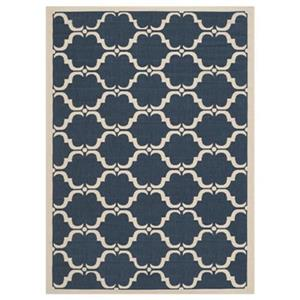 Safavieh Courtyard 7 ft x 10 ft Navy and Beige Area Rug