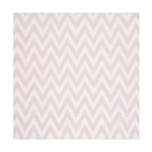 Dhurries Pink and Ivory Area Rug