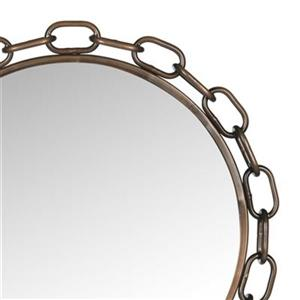 Safavieh Atlantis 26-in x 26-in Antique Copper Chain Link Mirror