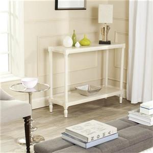 Safavieh American Home Bela White Pine Wood Rectangular Console Table