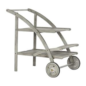 Safavieh Lodi Grey Steel 34.30-in  Tea Cart