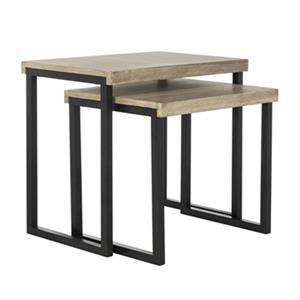 Safavieh Femi 21.6-in Light Grey Nesting Tables