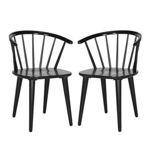 Safavieh AMH8512A-SET2 Blanchard Curved Spindle Side Chair 2 pk