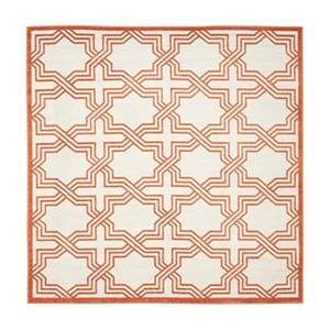 Ivory and Orange Amherst Indoor/Outdoor Rug