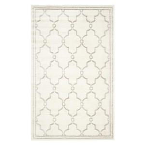 Ivory and Light Grey Amherst Geometric Indoor/Outdoor Rug