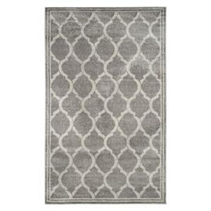 Safavieh Amherst 6 ft x 9 ft Light Grey and Grey Chevron Indoor/Outdoor Rug
