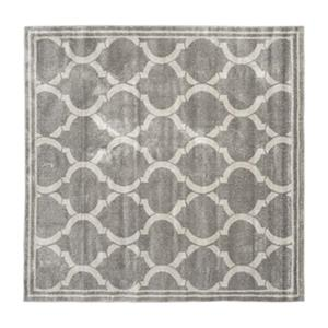 Safavieh Amherst 7 ft x 7 ft Light Grey and Grey Chevron Indoor/Outdoor Rug
