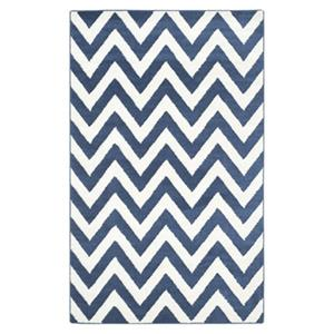 Safavieh Amherst 6 ft x 9 ft Navy and Beige Chevron Indoor/Outdoor Rug